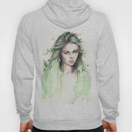 """Terra"" Earth spirit Watercolour portrait Hoody"