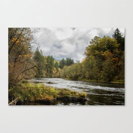 Fall on the McKenzie River Canvas Print