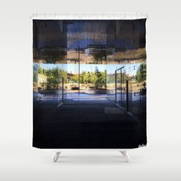 New Area in Morning Light Shower Curtain