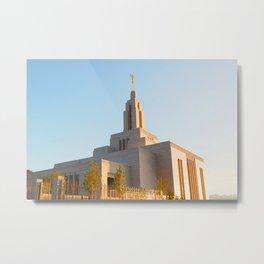 LDS Draper Utah Temple Metal Print