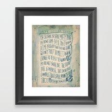 Old Sailor Song No.1 Framed Art Print