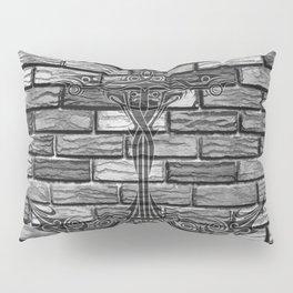 Black Anchor Brickwall Pillow Sham