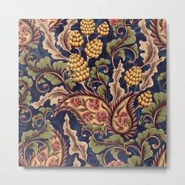 Beautiful Victorian Vintage Floral Pattern Metal Print