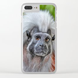 Cotton top Tamarin Clear iPhone Case