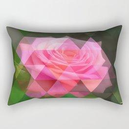 Pink Roses in Anzures 4 Art Triangles 1 Rectangular Pillow