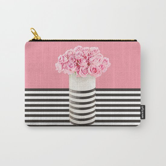 Roses and stripes Carry-All Pouch