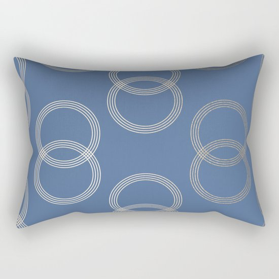 Simply Infinity Link in White Gold Sands on Aegean Blue Rectangular Pillow