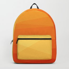 Orange and yellow ombre polygonal geometric pattern Backpack