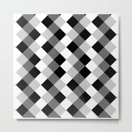 Chess Pattern | Strategy Tactic Board Game Metal Print