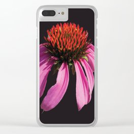 Coneflower 2 Dark Clear iPhone Case