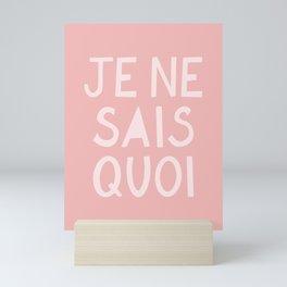 Je Ne Sais Quoi (I Don't Know What) French Pink Hand Lettering Mini Art Print