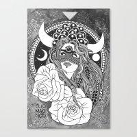 taurus Canvas Prints featuring Taurus by Jadranka Lacković / ojoMAGico