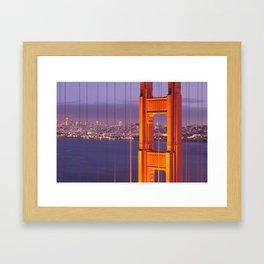 The Golden Gate Bridge at Night Framed Art Print