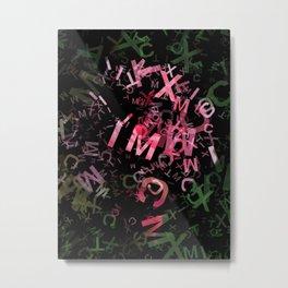 Pink Roses in Anzures 2 Letters 1 Metal Print