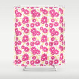 12 Sketched Mini Flowers Shower Curtain