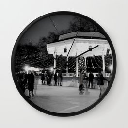 Ghost skaters Wall Clock