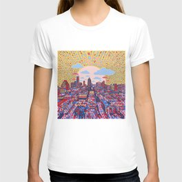 austin texas city skyline T-shirt