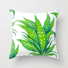 Java Fern Throw Pillow