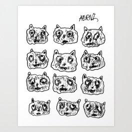 Street Cats Art Print