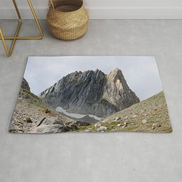 Alps Mountains Peak Rock Face Alpine Landscape Rug