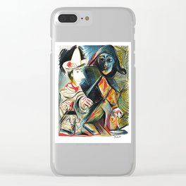 Pablo Picasso Le clown et l'Harlequin (The Clown and the Harlequin) 1971 Artwork, tshirt, tee, jerse Clear iPhone Case