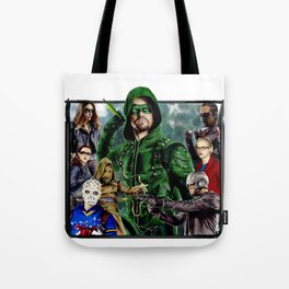 Team ARROW - Tote Bags (Green Arrow,Felicity Smoak,Spartan,OTA, Black Canary) Tote Bag