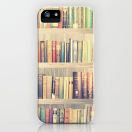 Dream with Books - Love of Reading Bookshelf Collage iPhone Case