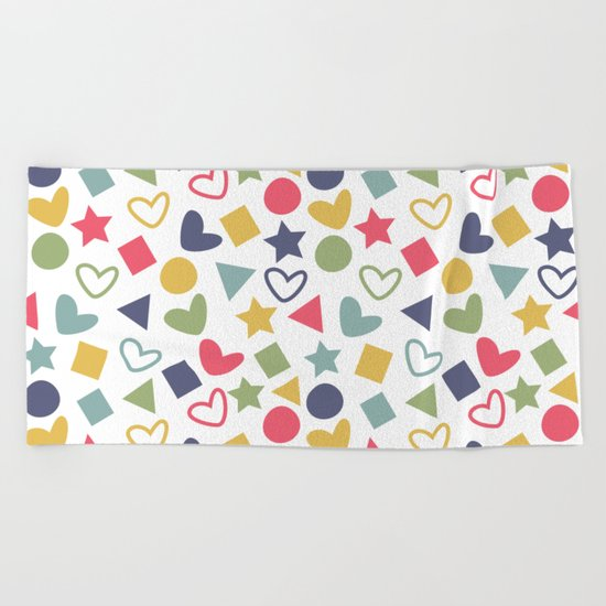 Colorful Lovely Pattern Beach Towel