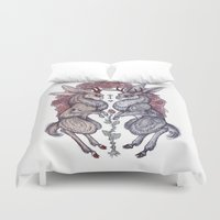 hearts Duvet Covers featuring Rare Hearts by Caitlin Hackett