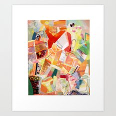 Shattered colors Art Print