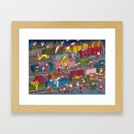 Christmas rerailed Framed Art Print