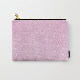 Pastel Pink Pearl Glitter Carry-All Pouch