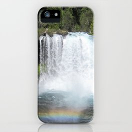 Reflections on Rainbows at Punchbowl Falls iPhone Case