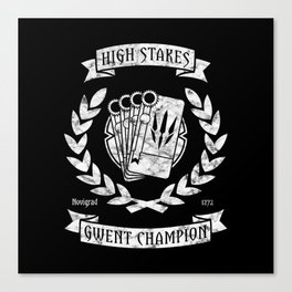 High Stakes Gwent Champion Canvas Print