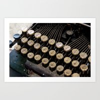 writer Art Prints featuring Writer by PhotoGalJan