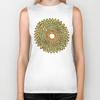 70s Biker Tanks featuring Peacock Mandala – 70s Palette by Cat Coquillette