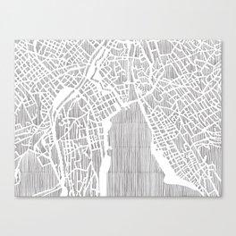 zurich city print Canvas Print
