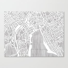 zurich city print Canvas Print