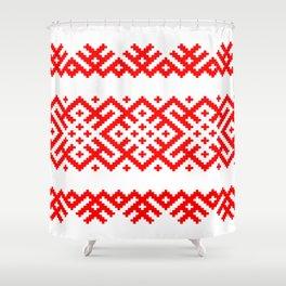 Pattern - Bogoroditsa - Slavic symbol Shower Curtain