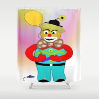 clown Shower Curtains featuring Clown by LoRo  Art & Pictures