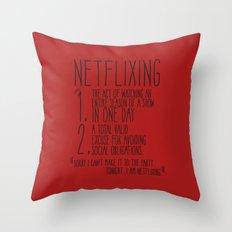 The Art of Netflixing Throw Pillow