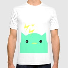 Thunder Cat White Mens Fitted Tee SMALL