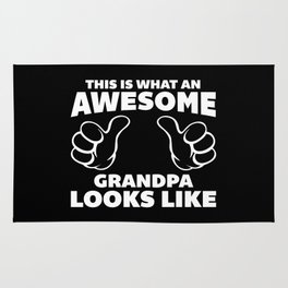 Awesome Grandpa Funny Quote Rug