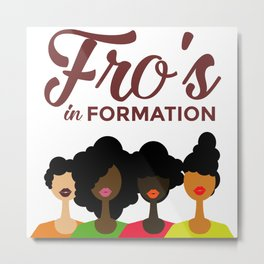 FROS IN FORMATION Metal Print