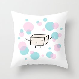 Mr Tofu Throw Pillow