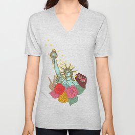 Lady Liberty Unisex V-Neck