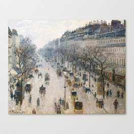 Camille Pissarro - The Boulevard Montmartre on a Winter Morning Canvas Print