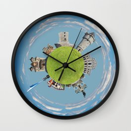 drobeta turnu severin tiny planet Wall Clock