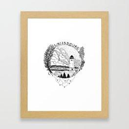 Louisbourg Lighthouse Framed Art Print