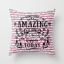 Notes are the building blocks of much written music Throw Pillow
